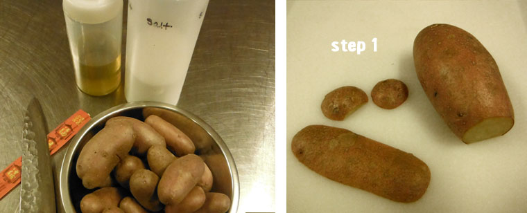 step 1 of potato making