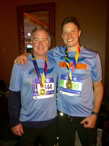 Chris McReynolds and Paul Degenfelder, Team Korey athletes, 2014.